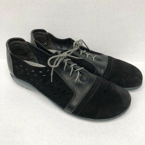 Naot LALO Black Lace-up Leather Sneakers 41 10